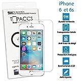 TOPACCS nbsp;Echte Glasscheibe aus gehärtetem Glas für Apple iPhone 6und 6S, widerstandsfähig, Displayschutz –mit Box
