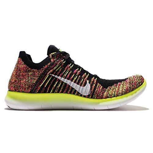 Nike Herren Free Rn Flyknit Oc Laufschuhe Schwarz (Mehrfarbig / Multi-Color)