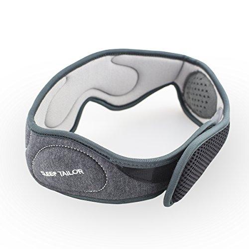 Sleep Tailor Yoto confortevole sagomato Mascherina per gli occhi, Hi-Fi Cuffie stereo integrato Maschera per dormire, da viaggio leggero Blindfold Blocco-con musica e riposo, colore grigio antracite