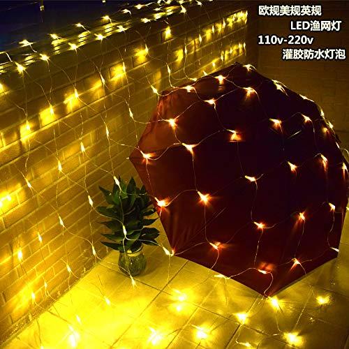 LED im Freien wasserdichte Lichter Festival Lichter voller Sterne geschmückt Urlaub Lichter, 3 * 2m 200 Lampenfarbe, Euro-Messgerät