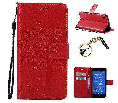 Preisvergleich Produktbild Schutzhülle aus PU Leder für (Sony Xperia Z3 11