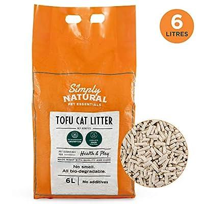 Litière de Tofu pour Chat par Simply Natural 6 litres de litière de Tofu pour Chat Naturelle et biodégradable sans Odeur ni poussière