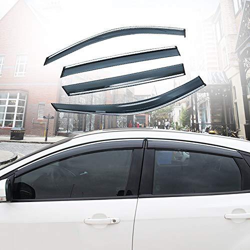 Xtrdye Deflettori per Auto Compatibili con Ford Focus (2005-2011), Vetri Laterali in Vetro Acrilico Visiera Parasole Antipioggia E Protezione Solare (4 Pezzi)
