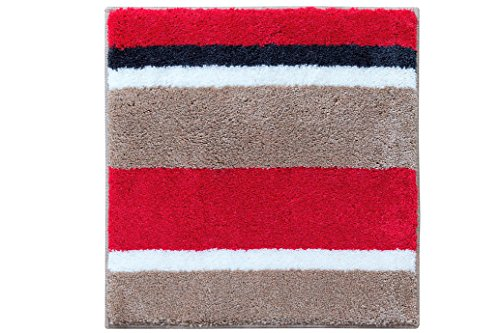 Casilin Nova Tapis de bain Acrylique Rouge 60 x 60 cm