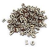 Fdit Alfabeto in Legno Misto Lettere A-Z 0-9 Numeri Decorazioni Fai-da-Te Fai-da-Te Bambini Giocattoli educativi di apprendimento precoce Giochi 200Pcs (#2 Numbers)