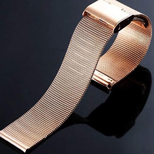 Noradtjcca 18 mm Armband aus geflochtenem Edelstahlgewebe -