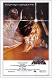 Star Wars Poster Style 'A' - American (93x62 cm) gerahmt in: Rahmen weiss
