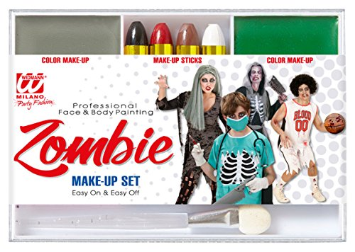WIDMANN-Set Makeup Zombie unisex-child, Einheitsgröße, vd-wdm02411