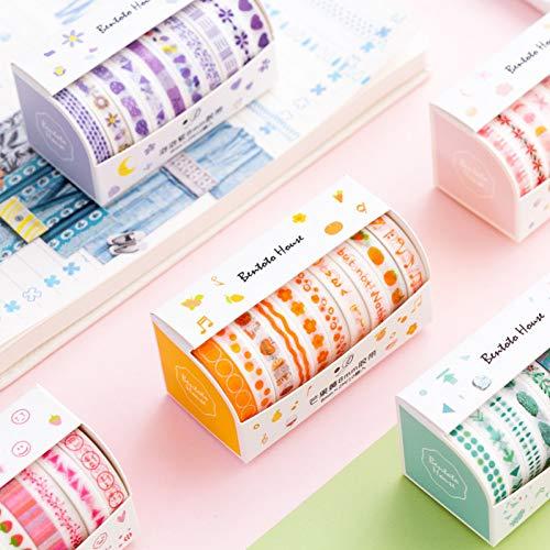 DLDLDL 8 Teile/Satz Kawaii Blätter Folie Gitter Floral Nette Papier Masking Washi Tape Set Japanisches Briefpapier Scrapbooking Liefert