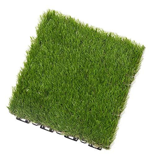 WCS Kunstrasen-Imitat-Garten-Rasen-Wolldecke, Grün, 30,5 x 30,5 cm, geeignet für Boden-Balkon- und Terrassen-Dekoration im Freien (Size : -) (Teppich-fliesen Im Freien)