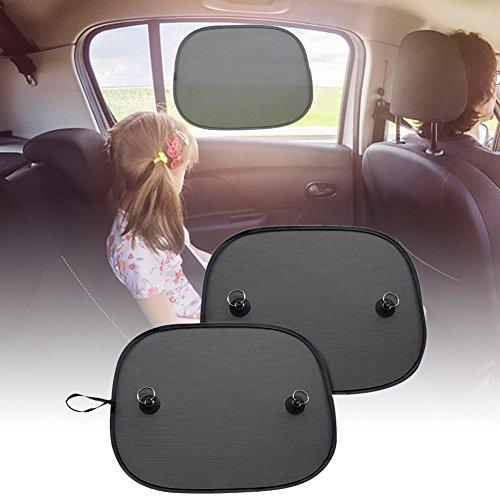 Prom-near-1-Coppia-Auto-Sole-Protezione-Brand-New-Car-Mesh-Parasole-Nylon-pagine-schilde-con-ventosa-super-44-36-cm-per-la-maggior-parte-dei-finestrini-laterali-auto-su-misura