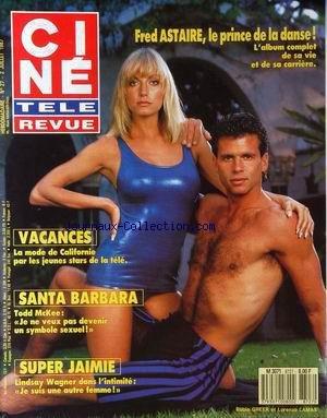 CINE TELE REVUE [No 27] du 02/07/1987 - FRED ASTAIRE - VACANCES - LA MODE DE CALIFORNIE - SANTA BARBARA - TODD MC KEE - SUPER JAIMIE - LINDSAY WAGNER