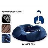 DADAO Coussin Coccyx, effectuer Le Relief de Douleur sciatique & Chaise Pastilles pour ameublement extérieur Caoutchouc Plume de mémoire Ergonomique 44x41cm(17x16inch) F