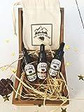 Bart Aftershave Face Öle 3verschiedene Düfte 30ml Geschenk Set mit Holzbox und Geschenk Tüte Tolles Groom Geschenk für Hochzeit Tag