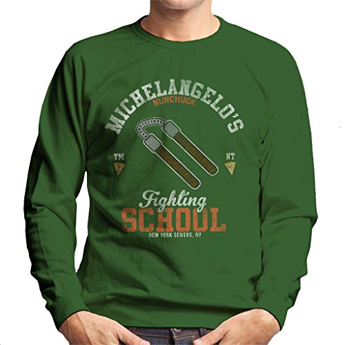 Michelangelo Nunchuck School Teenage Mutant Ninja Turtles Men's Sweatshirt