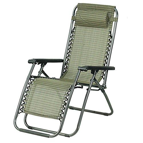 QIDI Chaise Longue Pliante Simple Métal 92 * 57cm (Couleur : Ordinaire)