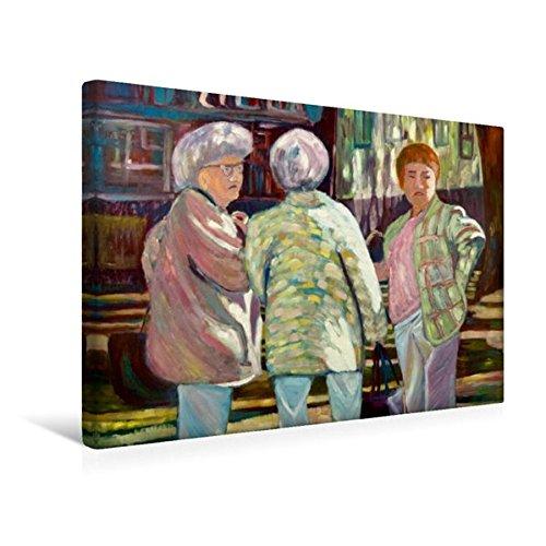 Calvendo Premium Textil-Leinwand 45 cm x 30 cm Quer, Meenzer Mädsche   Wandbild, Bild auf Keilrahmen, Fertigbild auf Echter Leinwand, Leinwanddruck: Ölmalerei von Margarita Siebke Menschen Menschen