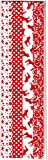 Flechtstreifen Fröbelsterne -Papierstreifen 48 Streifen Größe 15 mm x 450 mm 12 Sterne mehrfarbig 331503 rot-weiß Weihnachten Dekoration