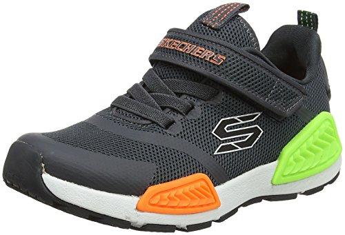 Skechers Jungen Kinectors Laufschuhe, Grau (Charcoal), 32 EU - Gore Stretch-heels