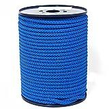 FTM Springseil Tau Seil, PP, Blau, Meterware von der Rolle, Ø 9mm für Fitness, Sport, Schule und Training (10 Meter)