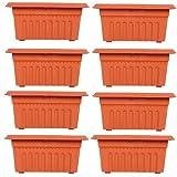 #10: Trust Basket Set Of 8 Rectangular UV Treated, Plastic Planter 16 Inch