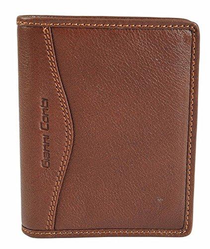 Gianni Conti Fein Luxus Italian Braun Weiches Leder Doppelt Gefaltete Geldbörse 587617 - Verpackt - Braun, M Braun