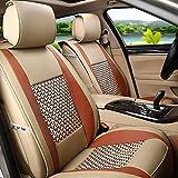 XHLLX Coprisedili,Universali Coprisedile per Auto,Auto Seat Cover Macchina Universali per Tutte Le Autospugna di,Protezione Ambientale Rimbalzo 8Mm,Coffeecolor,A