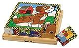 Melissa & Doug Holzwürfel-Puzzle - Haustiere (16 Teile)