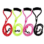 Comfortable & Shock Absorbing 4ft Climbing Rope Dog Leash with Comfy Foam Handle for Walking Running Hiking & Training… 15