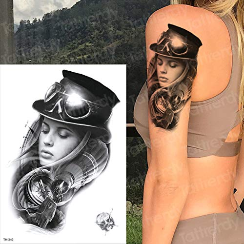 3pcsTattoo Design Männer Tattoo Halloween Zombie Narbe Tattoo Wassertransfer Männliche Tätowierung (Einfach Christian Halloween Crafts)