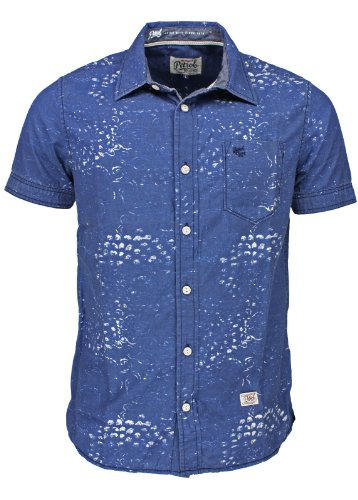 Petrol Industries -  Camicia Casual  - Classico  - Maniche corte  - Uomo blu 48