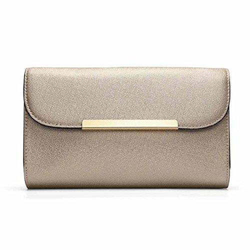 Damen Tasche Fashion Handtasche Schulter Diagonal Paket,Black Gold