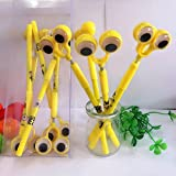 #7: Minion Spring Gel Pen for Kids Children Specially Designed with Googly Eyes for School Going Toddlers Return Gift Birthday Gifts Online by Kieana (Pack of 36)