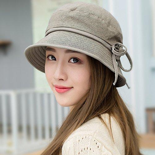 FQG*L'automne et l'hiver BONNET hiver automne Mme CLOTH HAT cap femelle d'âge moyen 8 hat fashion élégant pare-soleil bleu , Pele Le kaki