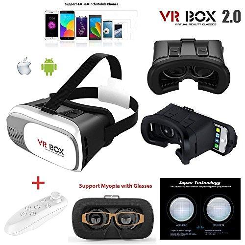 VR Box 2.0 3d VR Lunettes, 3d VR casque Boîte de réalité virtuelle avec  lentille réglable et sangle pour iPhone SE 5 5S 6S Plus 7 Plus Samsung  Galaxy S34567 ... cbbf5f1a6df9