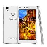 Telefonia Mobile, DOOGEE X5 MAX Dual SIM Smartphone Android 6.0 - 3G Cellulari con Sensore di Impronte Digitali - 4000mAh 5 Pollici Schermo Telefono con 8.0 MP Fotocamera Digitale - 1GB RAM + 8GB ROM - Bianca