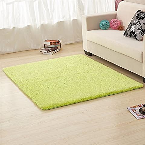 qwer Minimalistisch modern Teppich Farbe dick Wohnzimmer/Schlafzimmer Bett Tisch decken rechteckigen Bereich floating Teppich, 160 x 250 cm, grün