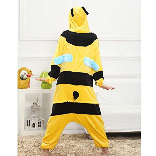 Imagen de z chen disfraz de pijama animales para unisex adulto, abeja, xl altura 180 190cm  alternativa