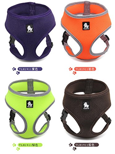 Soft Breathable Mesh Dog Harness Adjustable No Pull Comfort Padded Vest for Small Cat Puppy