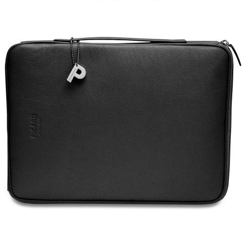 Picard 8113 Busy Schwarz - praktische Tasche für Laptop/Notebook (13 Zoll), Rindsleder