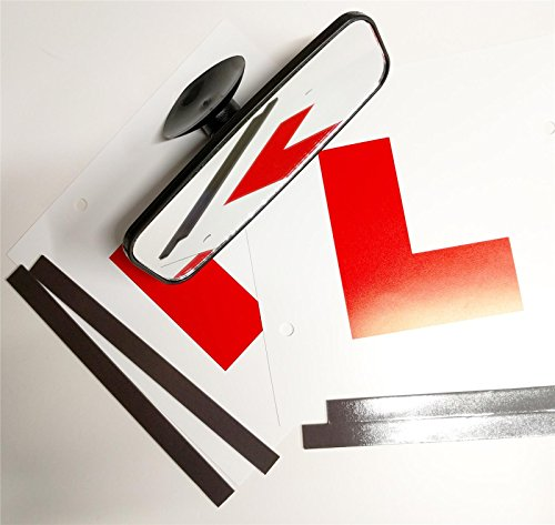 Mini Essentials Kit (Learner Driving Test Essential Kit, Mini Car Interior Mirror & L Plate)