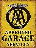 AA Approved Garage Services Breakdown Vintage Workshop Large Metal/Steel Wall Sign