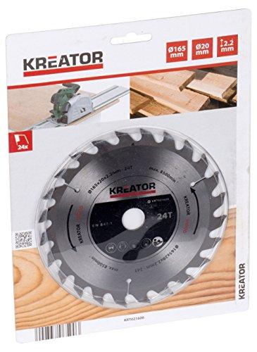 Kreator KRT021600 Lame de scie circulaire Ø165mm 24 dents - convient pour le bois