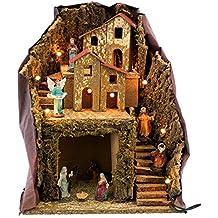 f655b170999 Belén con Portal rústico marrón de Madera para decoración navideña  Christmas - LOLAhome