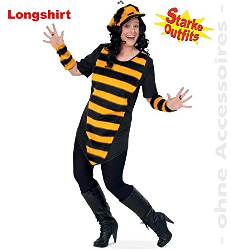 Biene Big Bee Mit Plusch 46 1tlg Damen Longshirt Big Shirt Fasching