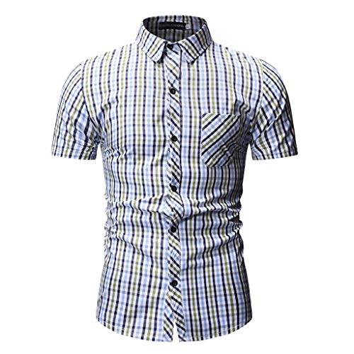 Herren Sommer T-Shirt Polo Kragen Slim Fit Baumwolle-Anteil | Basic Männer Poloshirts Kurzarm -Sweatshirt Kurzarm | Blouse Top Kurzarmshirts