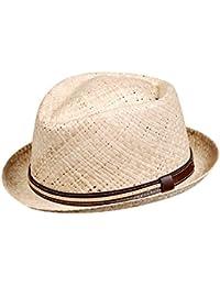 EveryHead Fiebig Paglietta Piccolo Rotondo Forma Cappello Di Paglia Da Uomo  Estate Coneflower Uomini Unisex Con Nastro (FI-16516… 71ab0410cf33