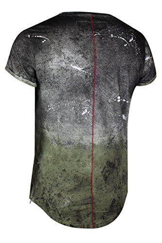 trueprodigy Casual Herren Marken T-Shirt mit Aufdruck, Oberteil cool und stylisch mit Rundhals (kurzarm & Slim Fit), Shirt für Männer bedruckt Farbe: Khaki 1073132-0629 Khaki