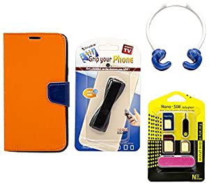Mify Mobile Accessories Combo for Micromax canvas A110, Orange