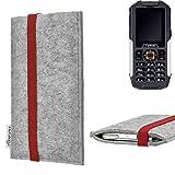 für Cyrus CM 7 Handyhülle Schutz Tasche COIMBRA mit rotem